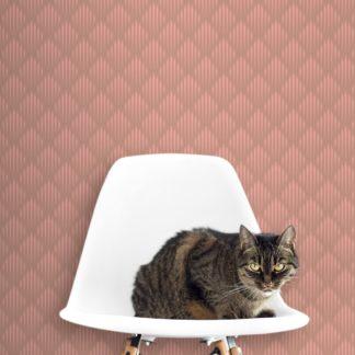 Art Deko Diamant Design Tapete mit grafischer Eleganz in altrosa - Ornamenttapete für Schlafzimmer