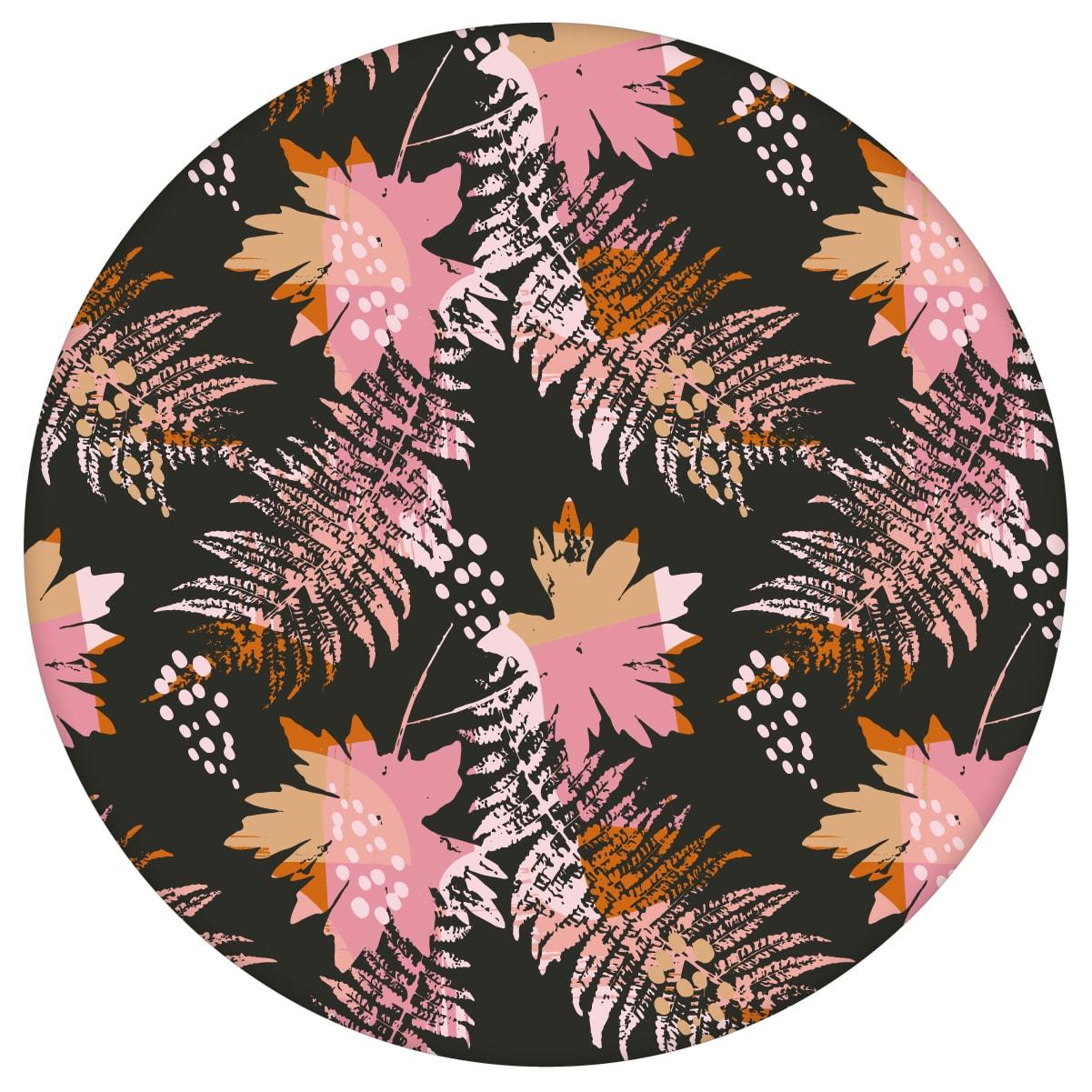 Retro Blumentapete Wildflowers in braun - florale Tapete für Schlafzimmer 2