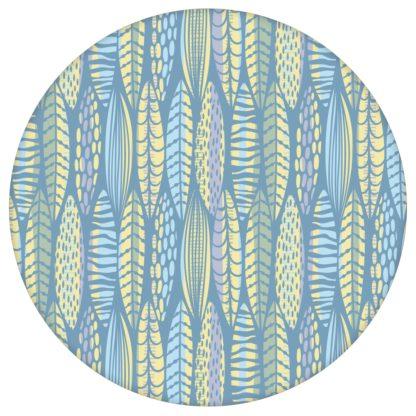 grafische Tapete Streifen Blätter floral, modern in hellblau - Streifentapete für Schlafzimmer aus den Tapeten Neuheiten Blumentapeten und Borten als Naturaltouch Luxus Vliestapete oder Basic Vliestapete