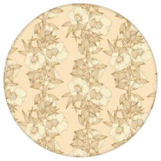 Garten Eden Blumentapete Blüten Ranken in vanille - Design Tapete für Schlafzimmer