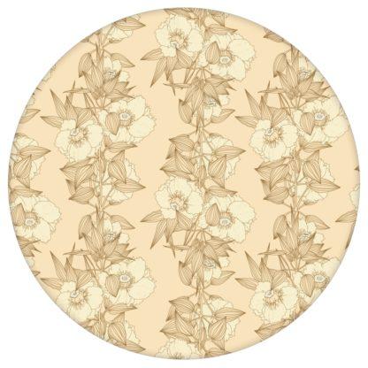 Garten Eden Blumentapete Blüten Ranken in vanille - Design Tapete für Schlafzimmeraus dem GMM-BERLIN.com Sortiment: beige Tapete zur Raumgestaltung: #Ambiente #blueten #gelbe Tapeten #interior #interiordesign #Ranken #schlafzimmerBlumen für individuelles Interiordesign