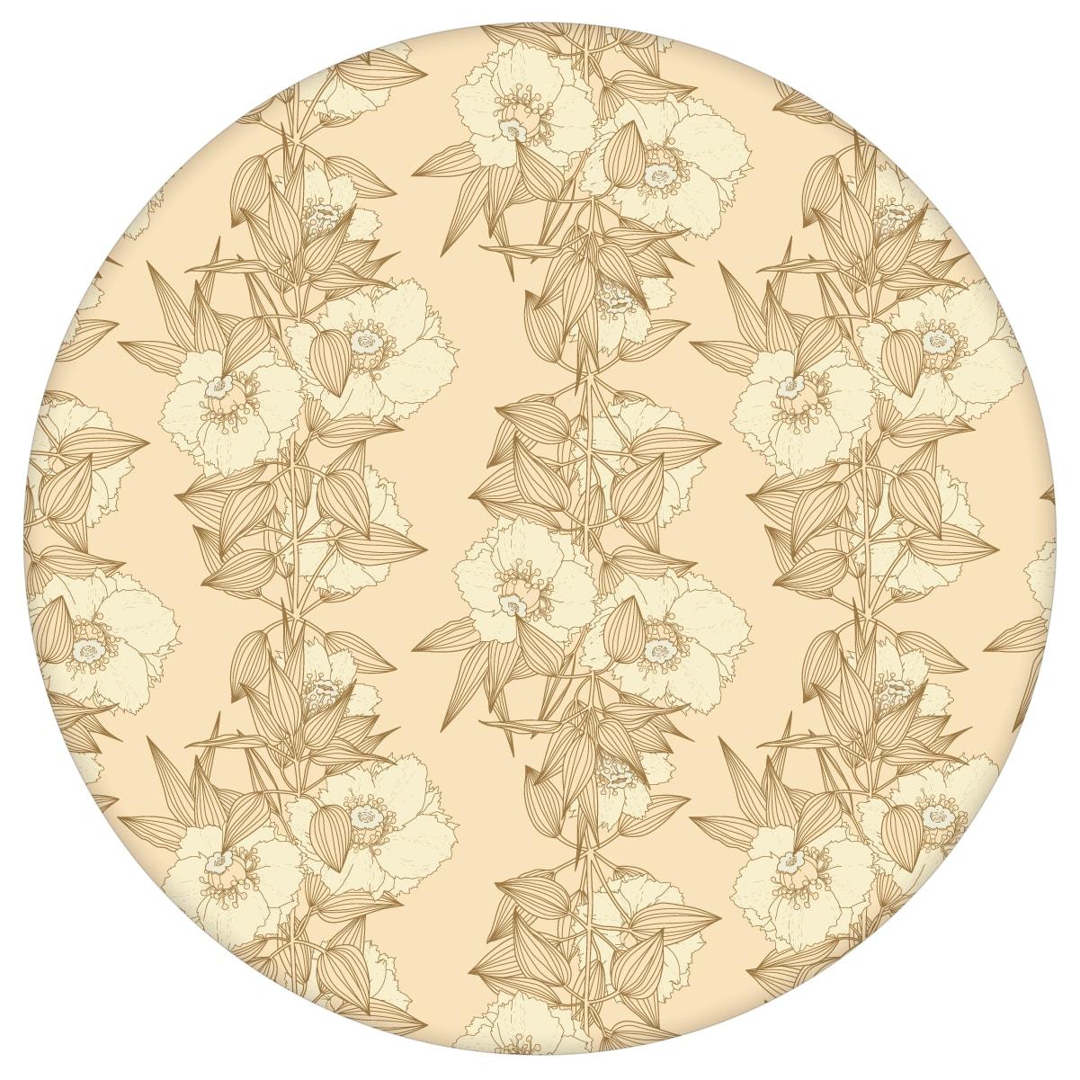Garten Eden Blumentapete Blüten Ranken in vanille - Design Tapete für Schlafzimmer 2