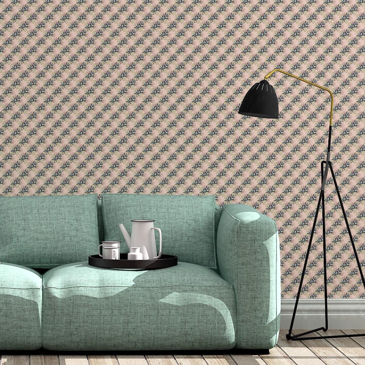 Schlafzimmer tapezieren in rosa: Classic Bouquet Blumentapete Blümchen Tapete in beige - Nostalgietapete für Schlafzimmer
