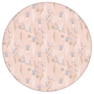 Der naive Garten Blumentapete Wellness für die Augen in rosa - Design Tapete für Schlafzimmer aus den Tapeten Neuheiten Blumentapeten und Borten als Naturaltouch Luxus Vliestapete oder Basic Vliestapete