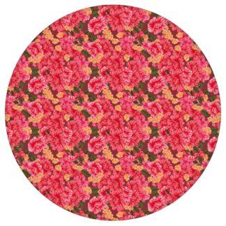 Blumentapete Shabby Flowers Landhaus shabby chic in rot - Vliestapete für Schlafzimmer