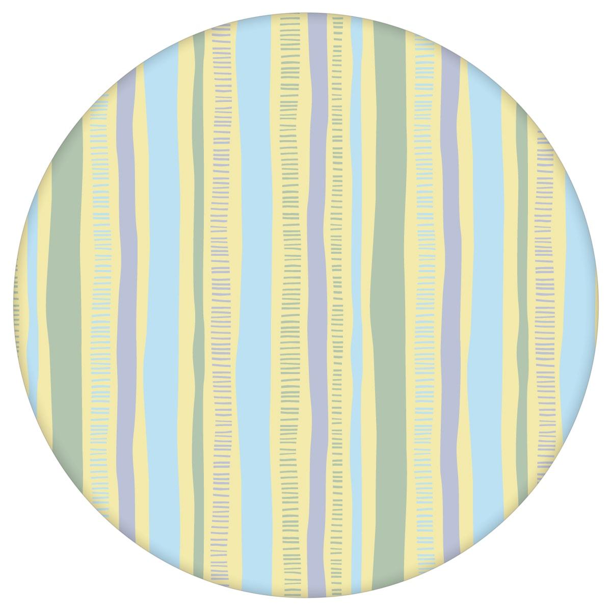 lockere Streifen grafisch modern in pastell blau, Streifentapete für Flur, Büro