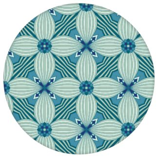 Petrol Ornamenttapete Art Deko Lilly Muster groß - Design Tapete für Schlafzimmeraus dem GMM-BERLIN.com Sortiment: blaue Tapete zur Raumgestaltung: #00120 #Ambiente #Art Deko #Blaue Tapeten #blueten #blumen #Grafik #interior #interiordesign #schlafzimmer für individuelles Interiordesign