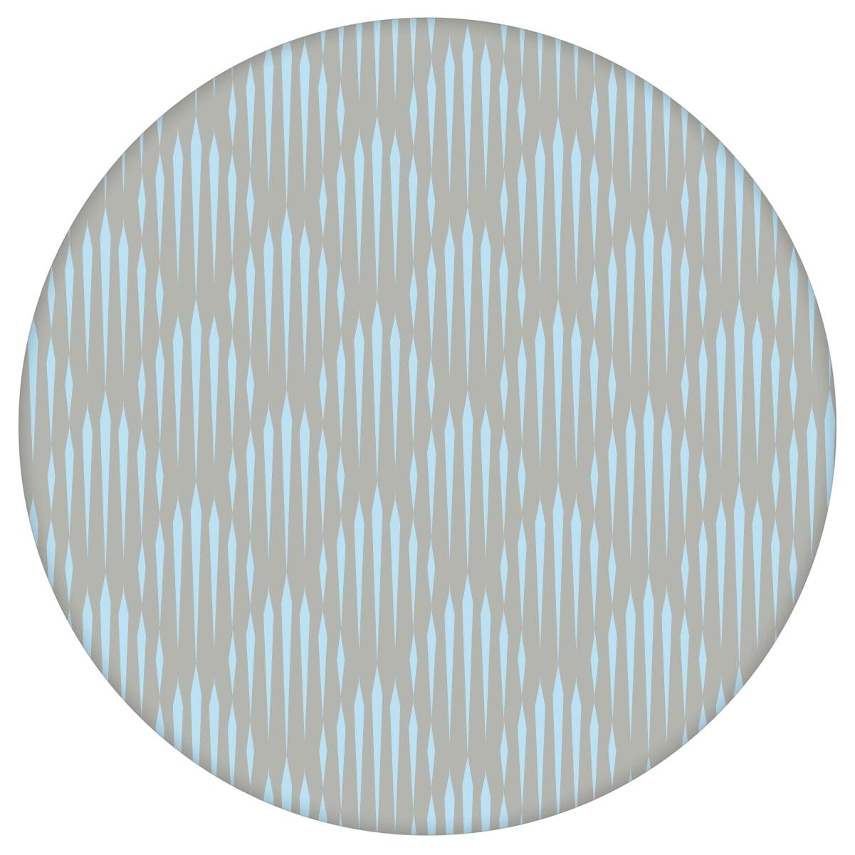 Diamant Design Tapete Art Deko mit grafischer Eleganz in hellblau - Ornamenttapete für Flur, Büro aus den Tapeten Neuheiten Exklusive Tapete für schönes Wohnen als Naturaltouch Luxus Vliestapete oder Basic Vliestapete