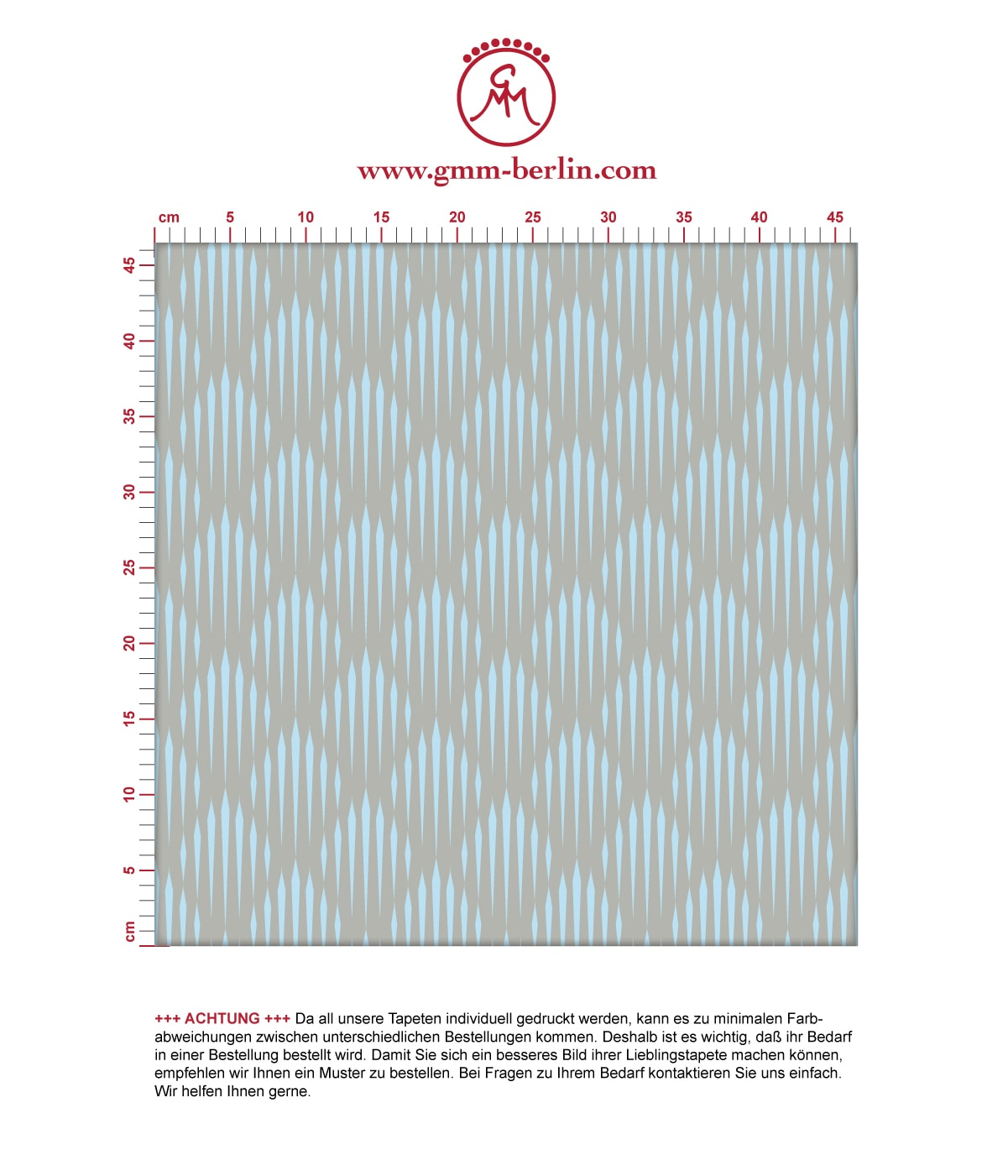 Diamant Design Tapete Art Deko mit grafischer Eleganz in hellblau - Ornamenttapete für Flur, Büro 3