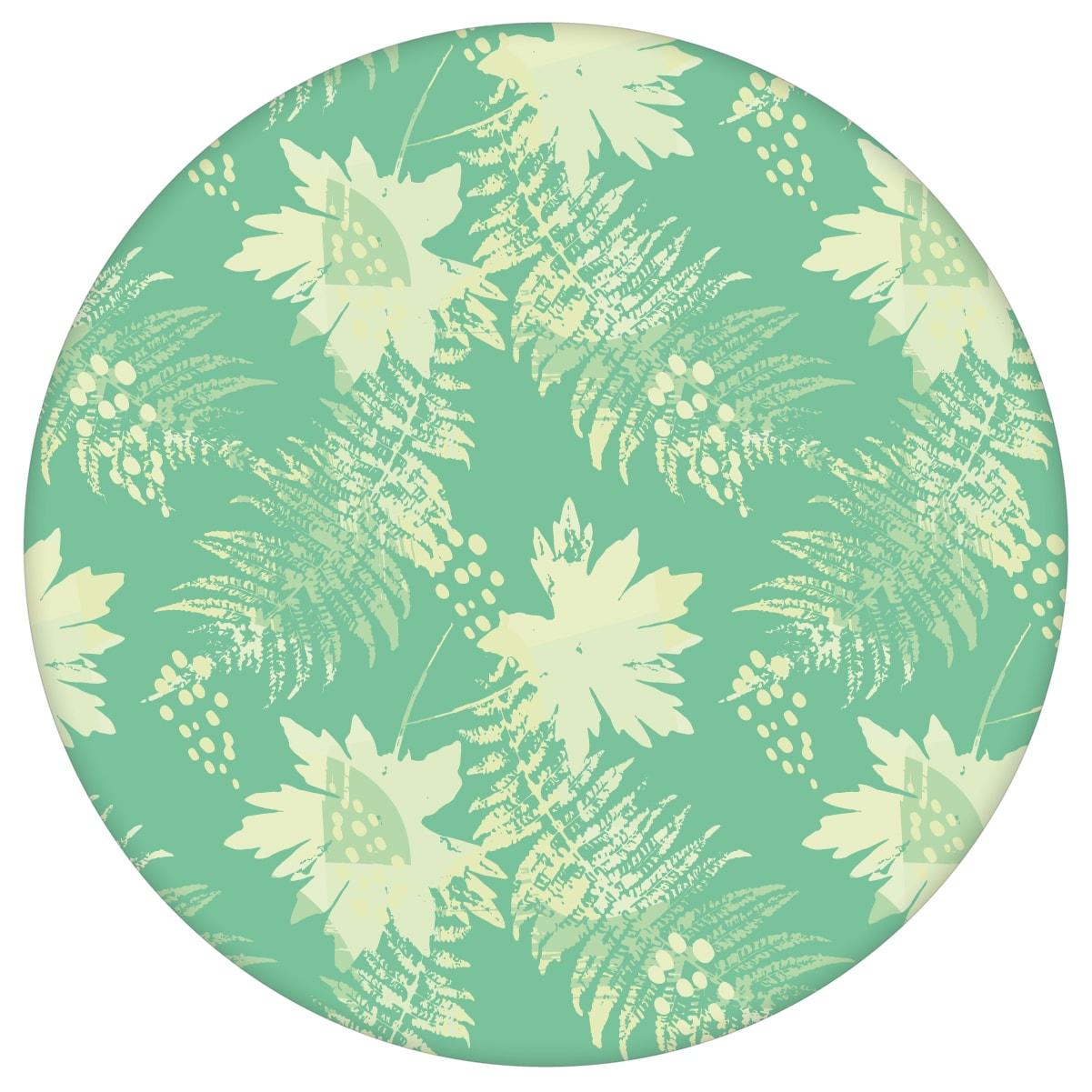 Wildflowers Blumentapete im Retro Look in grün - florale Tapete für Flur, Büro 1