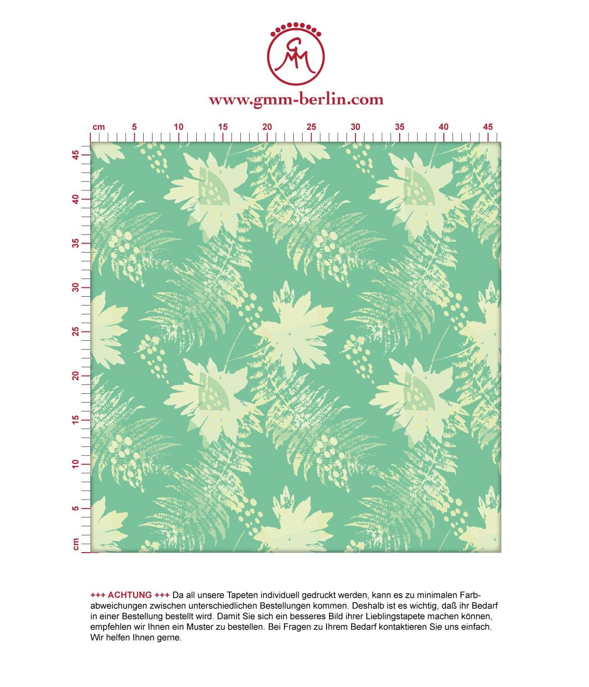 Wildflowers Blumentapete im Retro Look in grün - florale Tapete für Flur, Büro 3