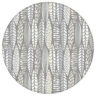 Moderne Tapete Streifen Blätter grafisch floral in grau, Streifentapete für Ihr Zuhause aus den Tapeten Neuheiten Blumentapeten und Borten als Naturaltouch Luxus Vliestapete oder Basic Vliestapete