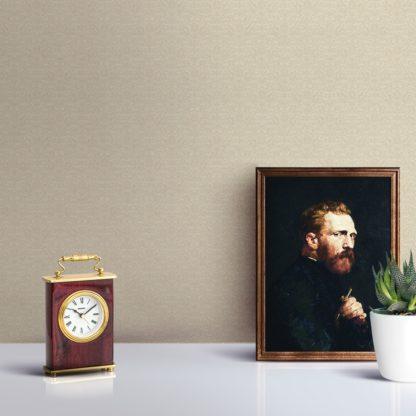 Tapete für Büroräume creme: Vanille Ornamenttapete florales Damast Muster klassisch - Design Tapete für Flur, Büro