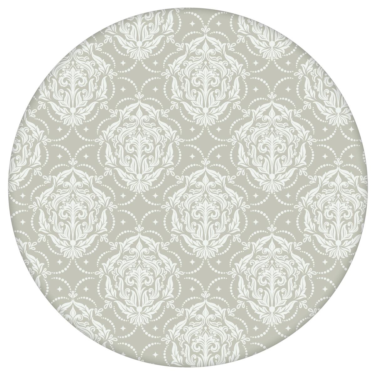 Graue Ornamenttapete My Castle Damast Muster - Design Tapete für Flur, Büro