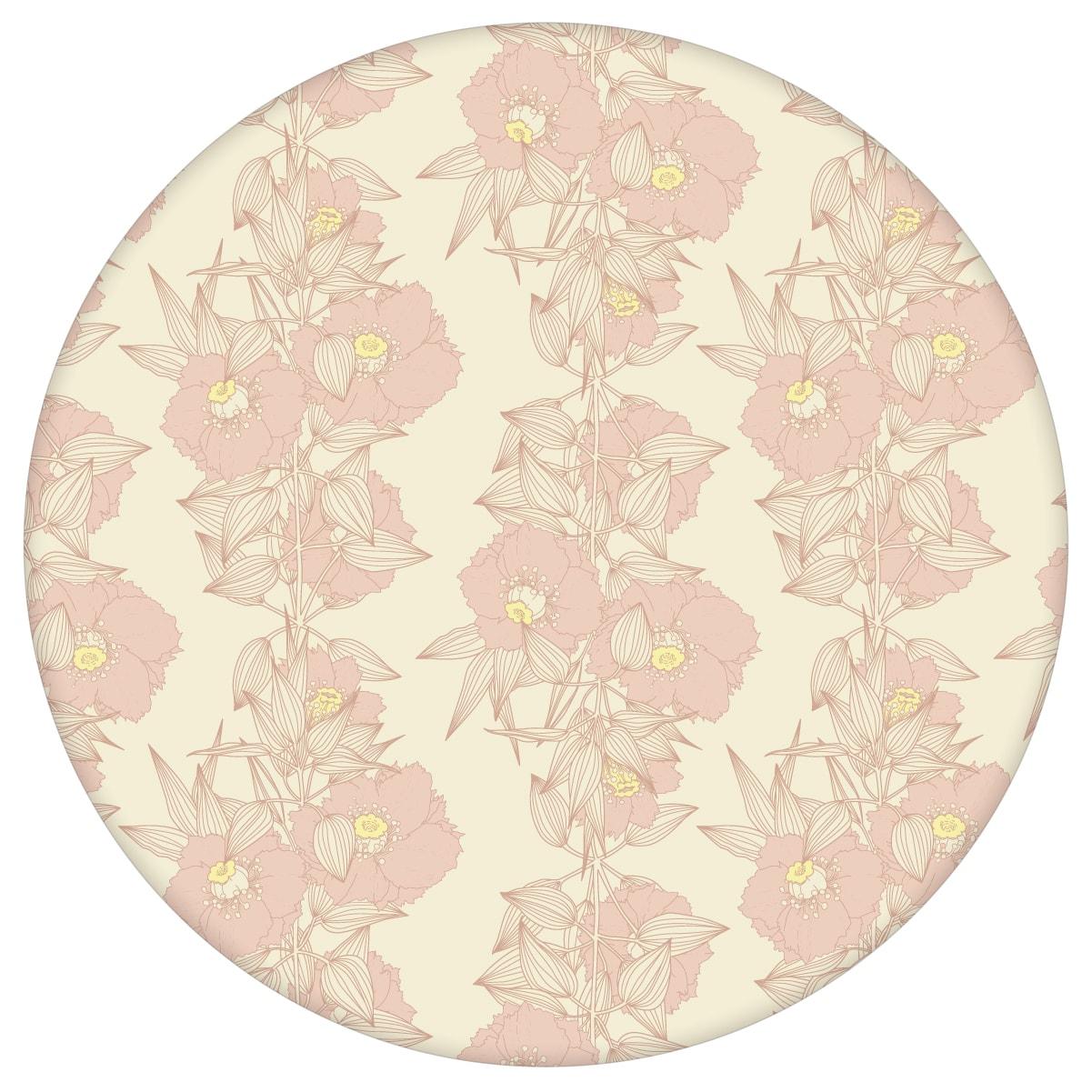 Blüten Ranken Blumentapete Garten Eden in rosa - Design Tapete für Flur, Büro aus den Tapeten Neuheiten Blumentapeten und Borten als Naturaltouch Luxus Vliestapete oder Basic Vliestapete