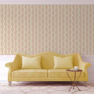Tapete für Büroräume gelb: Blüten Ranken Blumentapete Garten Eden in rosa - Design Tapete für Flur, Büro