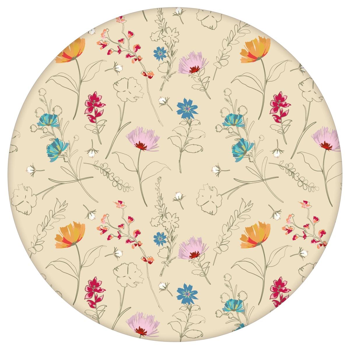 Spring in the air Blumentapete für Frühlings Gefühle in vanille - Design Tapete für Flur, Büroaus dem GMM-BERLIN.com Sortiment: beige Tapete zur Raumgestaltung: #Ambiente #blueten #flurBlumen #garten #gelbe Tapeten #interior #interiordesign #kueche #Natur #Wiesenblumen für individuelles Interiordesign