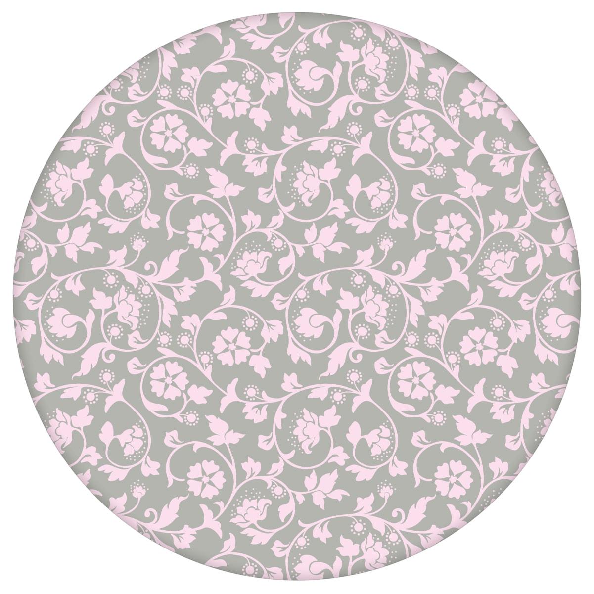 Ranken Ornamenttapete Kemenaten Zauber mit Blumen in grau - Nostalgietapete für Flur, Büro aus den Tapeten Neuheiten Blumentapeten und Borten als Naturaltouch Luxus Vliestapete oder Basic Vliestapete