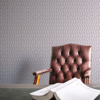 Tapete für Büroräume hell rosa: Blatt Ornamenttapete Nostalgie Ranken in grau - Vlies Tapete Ornamente für Flur, Büro