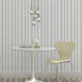 Tapete lockere Streifen grafisch modern in pastell grau, Streifentapete als Wandgestaltung