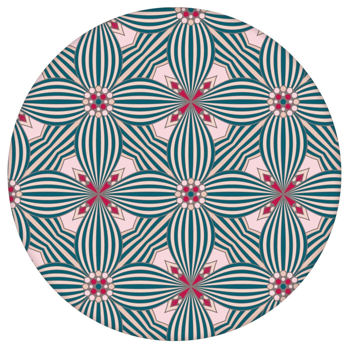 Retro Ornamenttapete Art Deko Lilly Muster groß in pink - Design Tapete für Flur, Büroaus dem GMM-BERLIN.com Sortiment: rosa Tapete zur Raumgestaltung: #00120 #Ambiente #Arbeitszimmer #Art Deko #blueten #blumen #Büro #flur #Grafik #interior #interiordesign #rosa Tapeten für individuelles Interiordesign