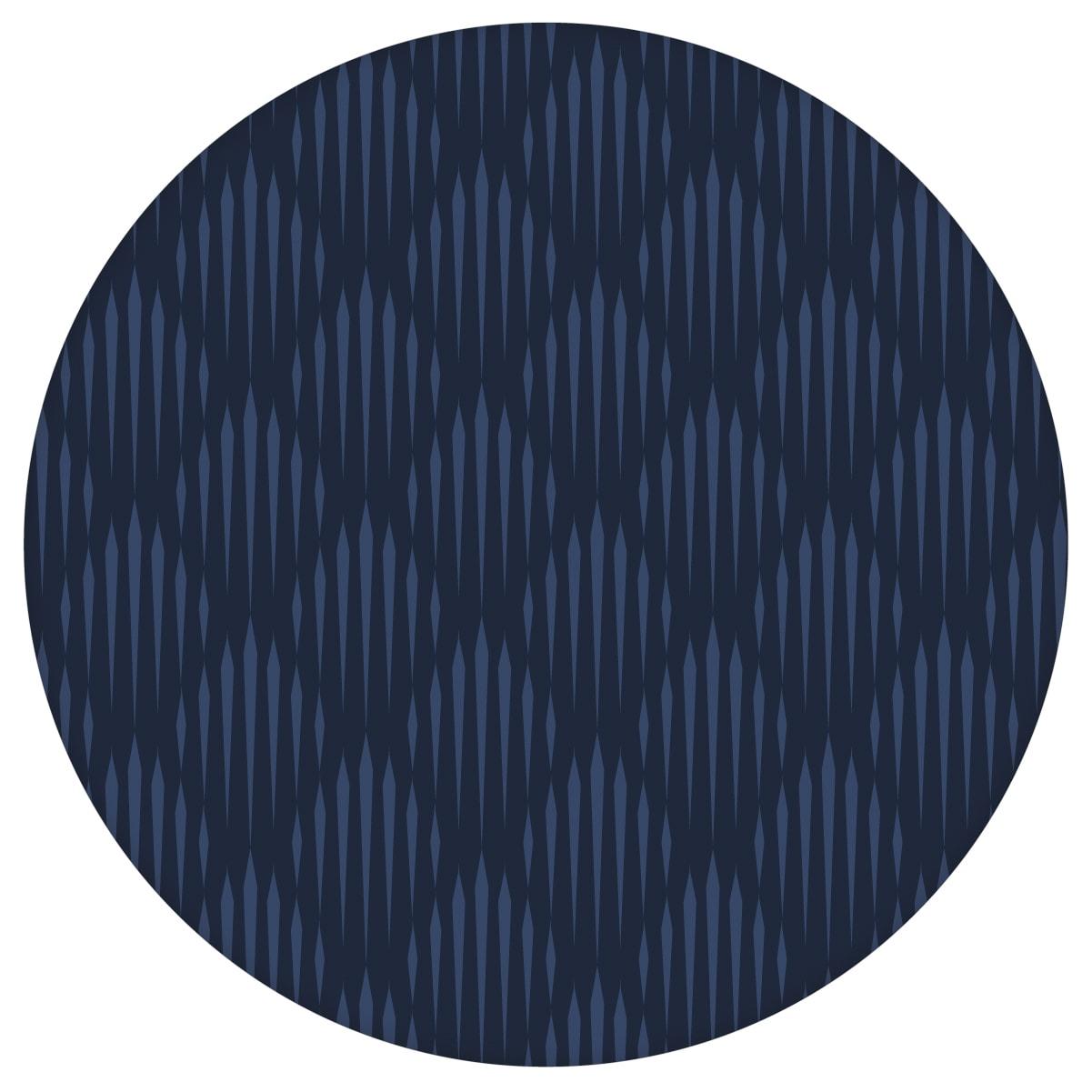 Elegante Design Tapete Art Deko Diamant in dunkelblau, Ornamenttapete für Ihr Zuhause 2