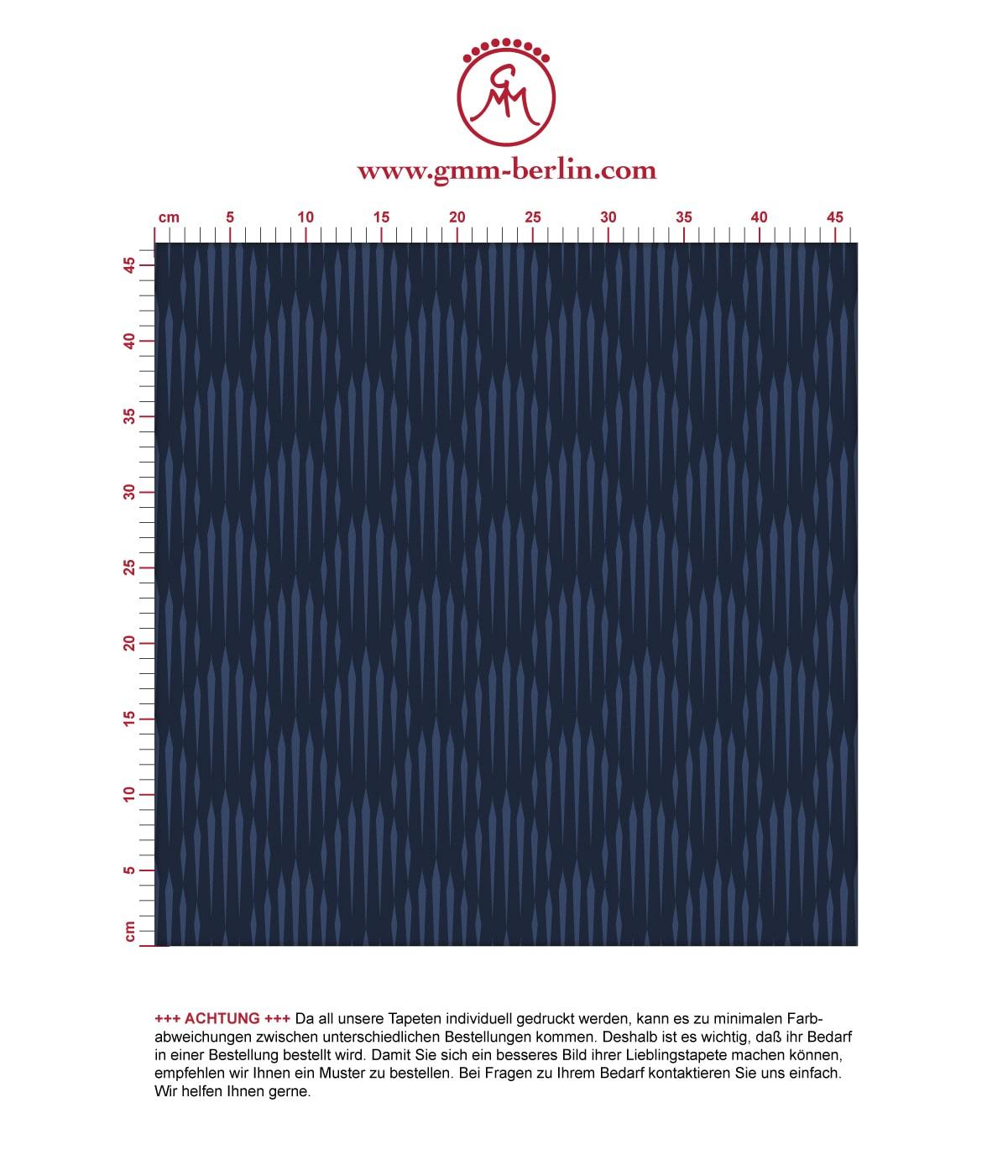 Elegante Design Tapete Art Deko Diamant in dunkelblau, Ornamenttapete für Ihr Zuhause 3