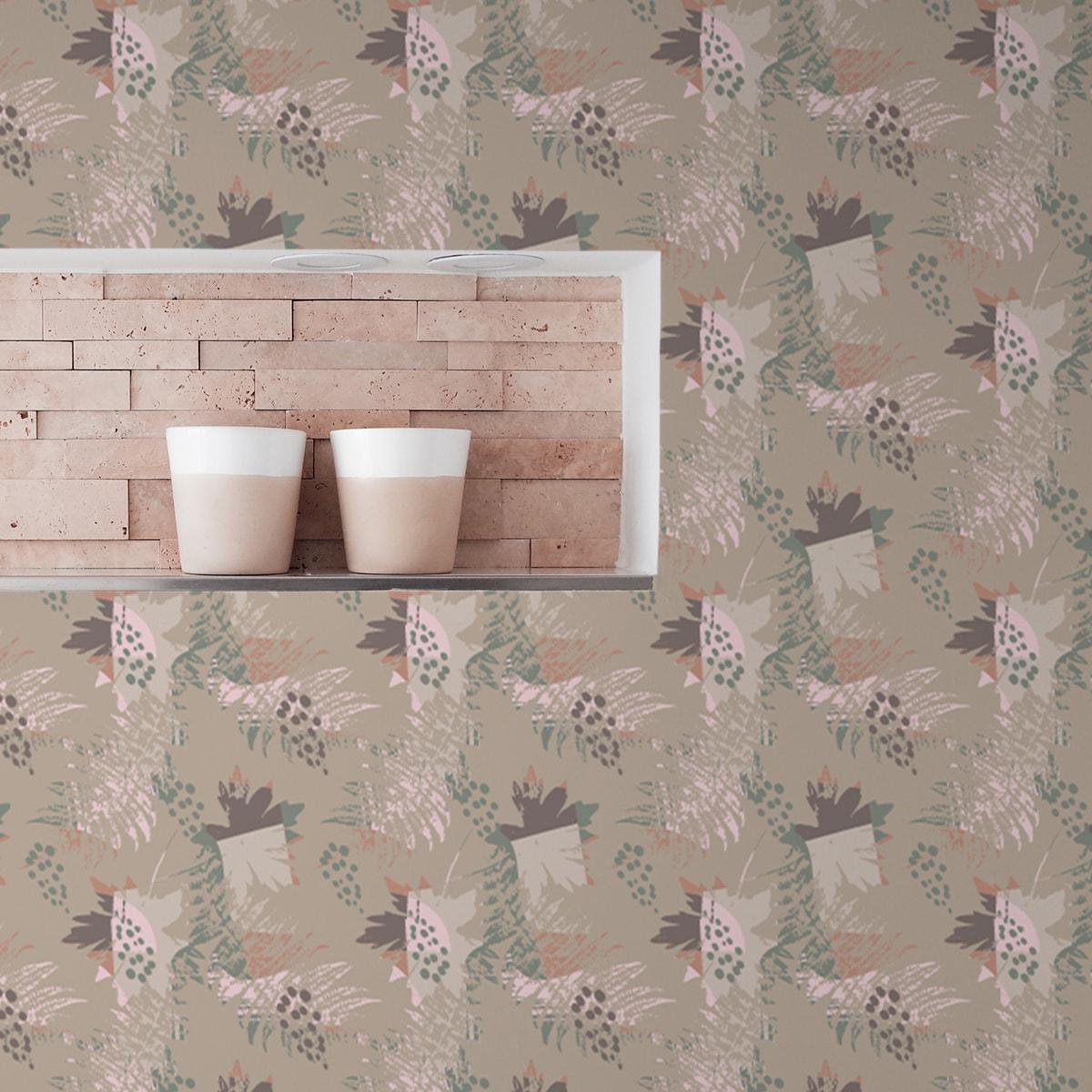 Wandtapete creme: Retro Wildflowers Blumentapete in beige, florale Tapete für Ihr Zuhause