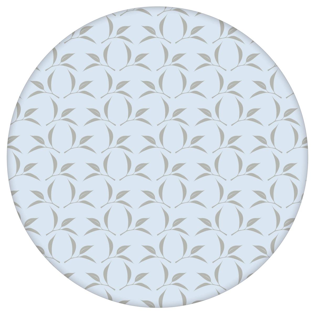 Ornament Tapete Tea Time mit Tee Blättern in grau, Design Tapete für Ihr Zuhauseaus dem GMM-BERLIN.com Sortiment: blaue Tapete zur Raumgestaltung: #Ambiente #Blätter #Graue Tapeten #interior #interiordesign #Tee #wohnzimmerGrafik für individuelles Interiordesign