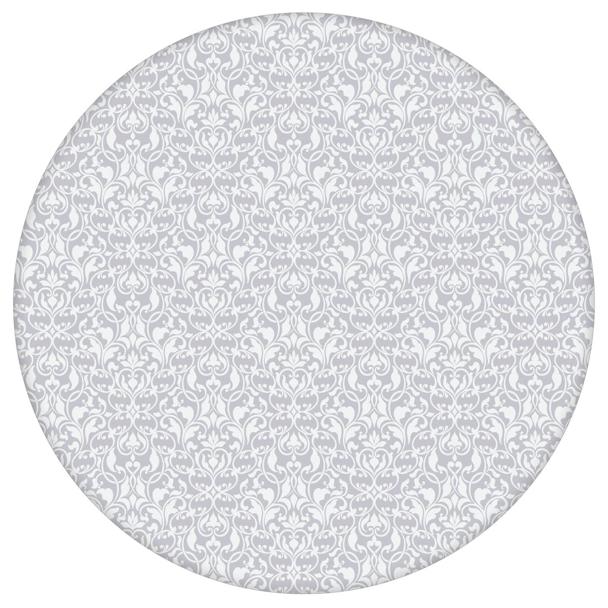 Ornamenttapete Damast Muster klassisch, floral in flieder grau, Design Tapete für Ihr Zuhause aus den Tapeten Neuheiten Blumentapeten und Borten als Naturaltouch Luxus Vliestapete oder Basic Vliestapete