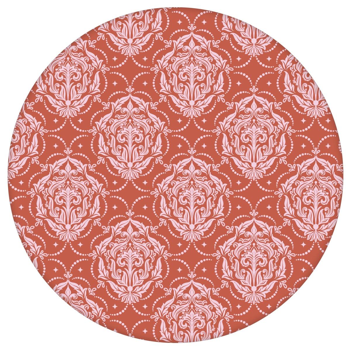 Ornamenttapete My Castle Damast Muster in rot braun, Design Tapete für Ihr Zuhause 2