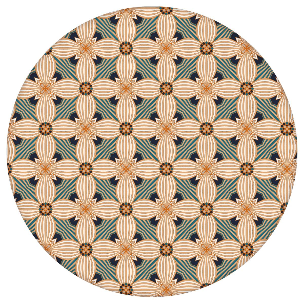 Ornamenttapete Art Deko Lilly Retro Muster in beige, Design Tapete für Ihr Zuhause 2