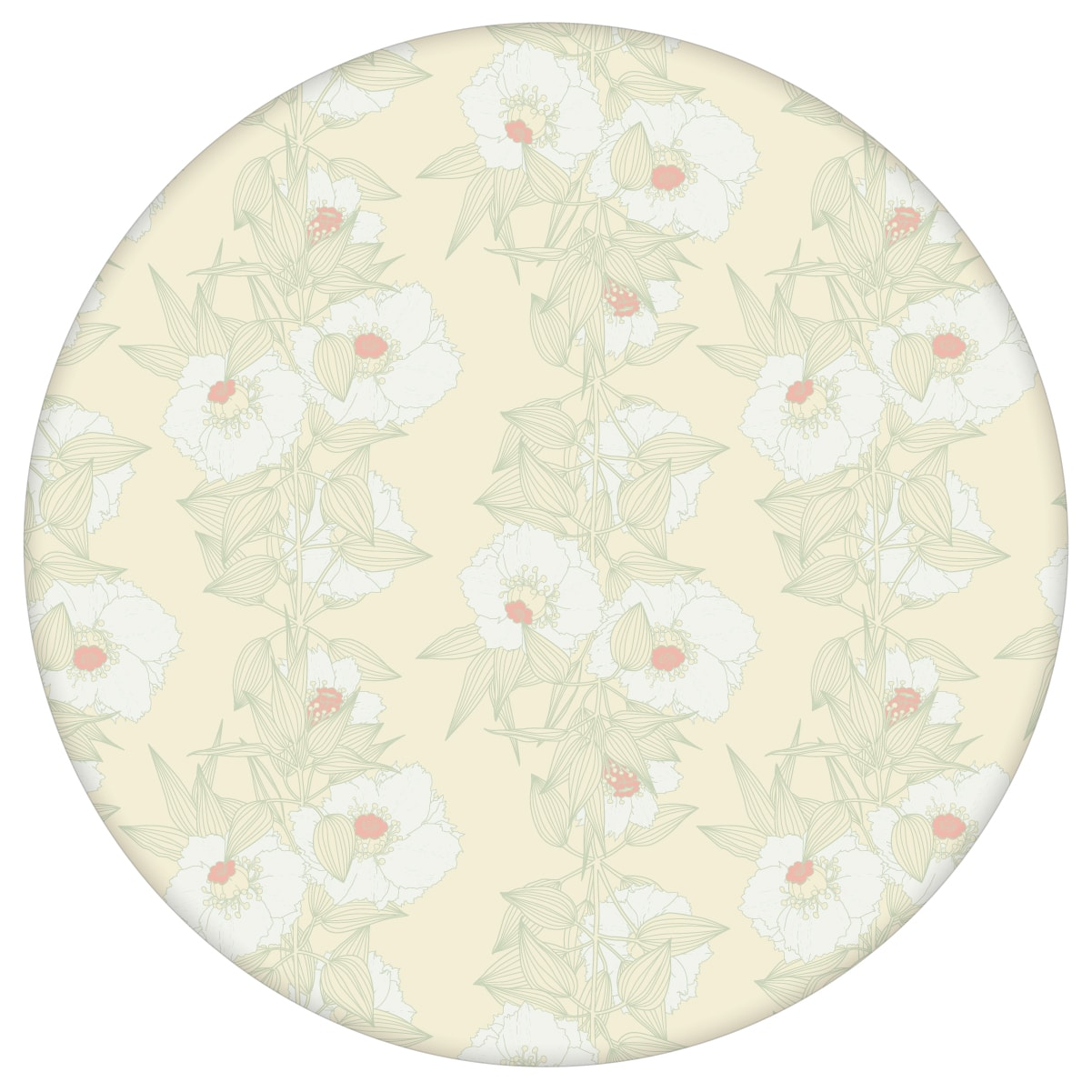 Mint Blumentapete Garten Eden Blüten Ranken, Design Tapete für Ihr Zuhause 2