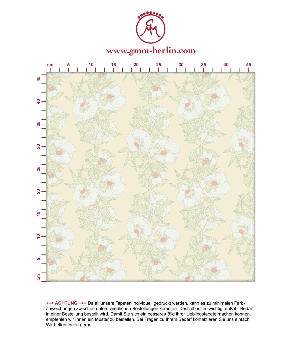 Mint Blumentapete Garten Eden Blüten Ranken, Design Tapete für Ihr Zuhause 3