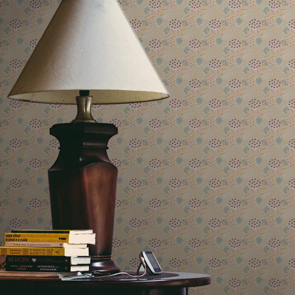 Wandtapete creme: Blümchen Tapete Blumentapete Classic Bouquet in pastell beige, Nostalgietapete für Ihr Zuhause