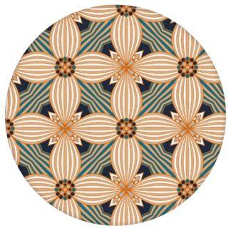 Ornamenttapete Muster groß Art Deko Lilly in beige gelb, Design Tapete für Ihr Zuhause aus den Tapeten Neuheiten Exklusive Tapete für schönes Wohnen als Naturaltouch Luxus Vliestapete oder Basic Vliestapete