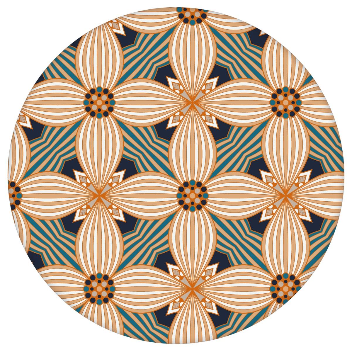 Ornamenttapete Muster groß Art Deko Lilly in beige gelb, Design Tapete für Ihr Zuhause 2