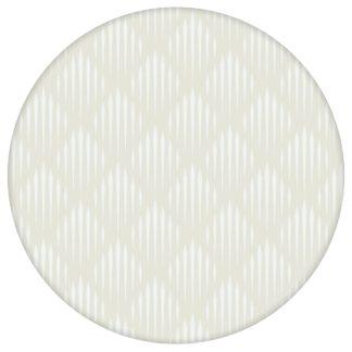 Grafische Design Tapete Art Deko Diamant in beige, Ornamenttapete als Wandgestaltung