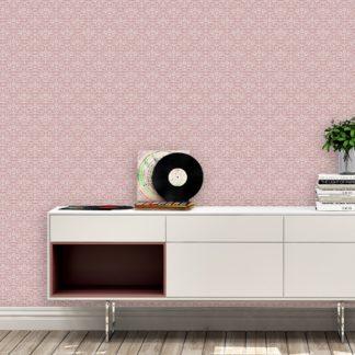 Wandtapete rosa: Rosa Ornamenttapete florales Damast Muster klassisch, Design Tapete als Wandgestaltung
