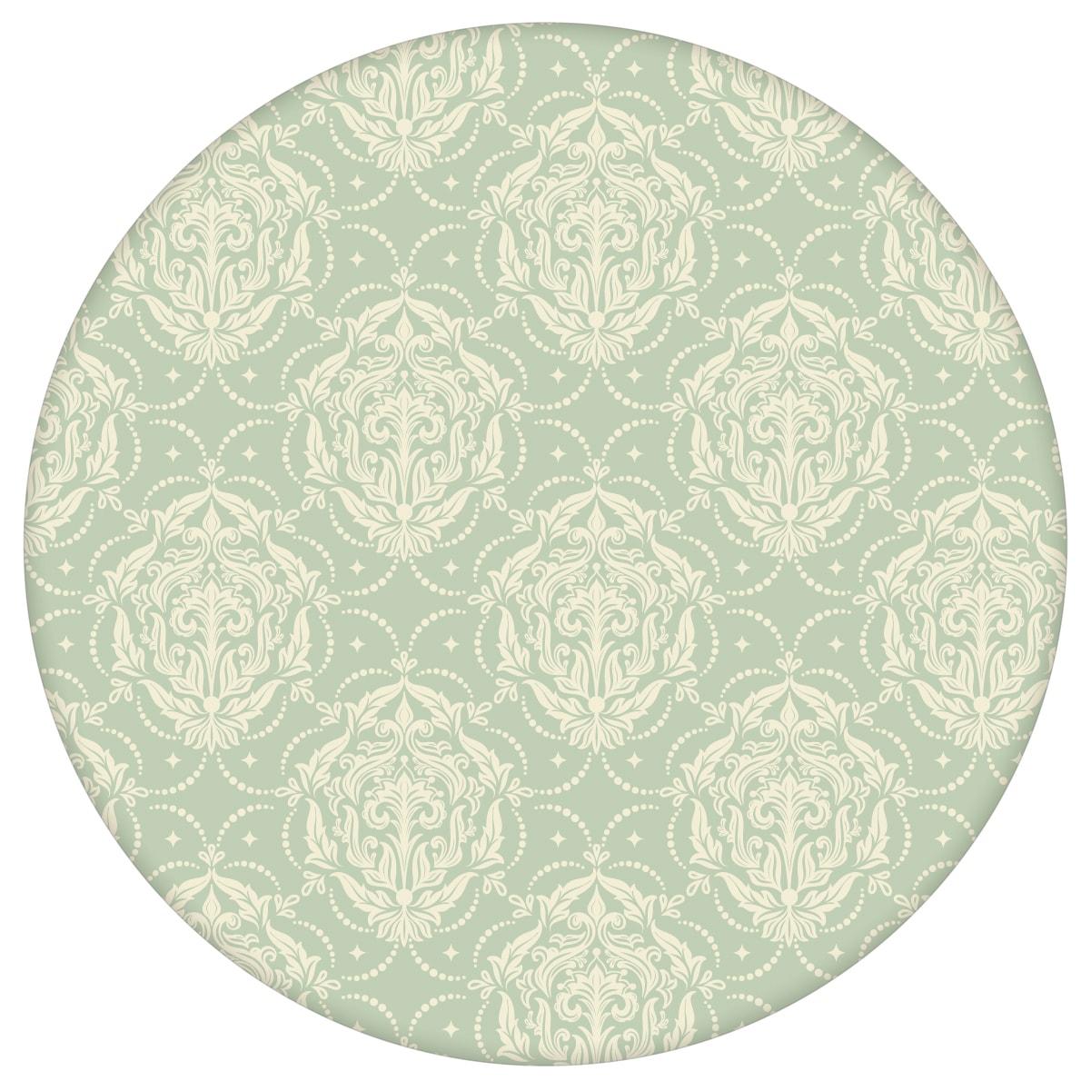 Mint Ornamenttapete My Castle Damast Muster, Design Tapete als Wandgestaltung aus den Tapeten Neuheiten Blumentapeten und Borten als Naturaltouch Luxus Vliestapete oder Basic Vliestapete
