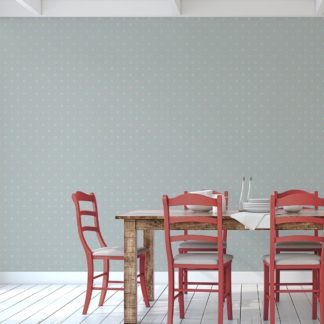 Wandtapete rosa: Hellblaue Ornamenttapete Art Deko Lilly Retro Muster, Design Tapete als Wandgestaltung
