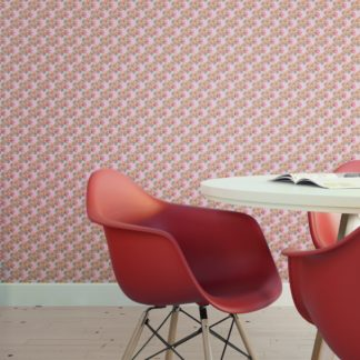 Wandtapete rosa: Rosa Blumentapete Classic Bouquet Blümchen Tapete, Nostalgietapete als Wandgestaltung