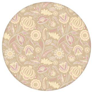 Beige Blumentapete Folklore Garten Vintage Stil, Vliestapete Blumen als Wandgestaltung aus den Tapeten Neuheiten Blumentapeten und Borten als Naturaltouch Luxus Vliestapete oder Basic Vliestapete