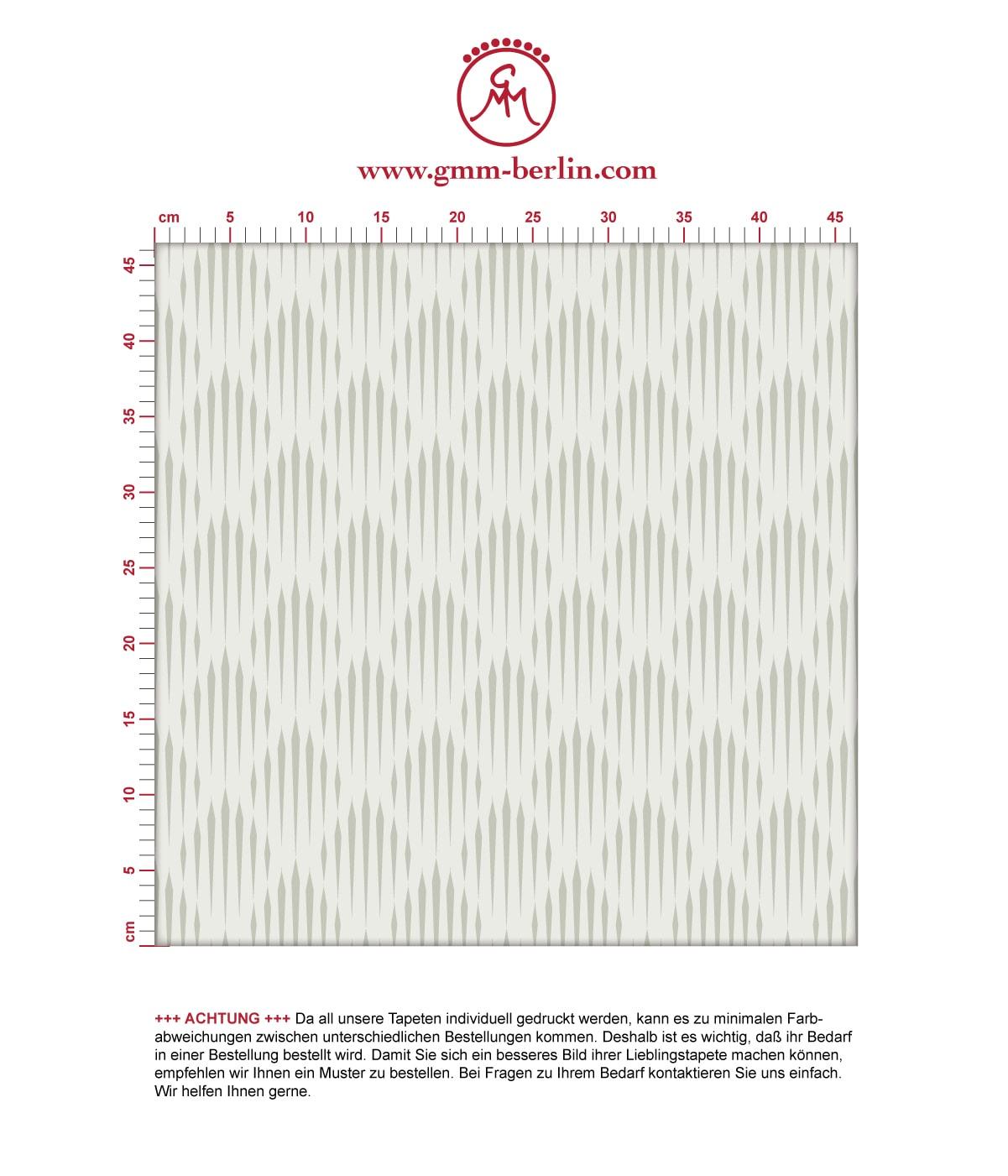 Graue Design Tapete Art Deko Diamant mit grafischer Eleganz, Ornamenttapete  3