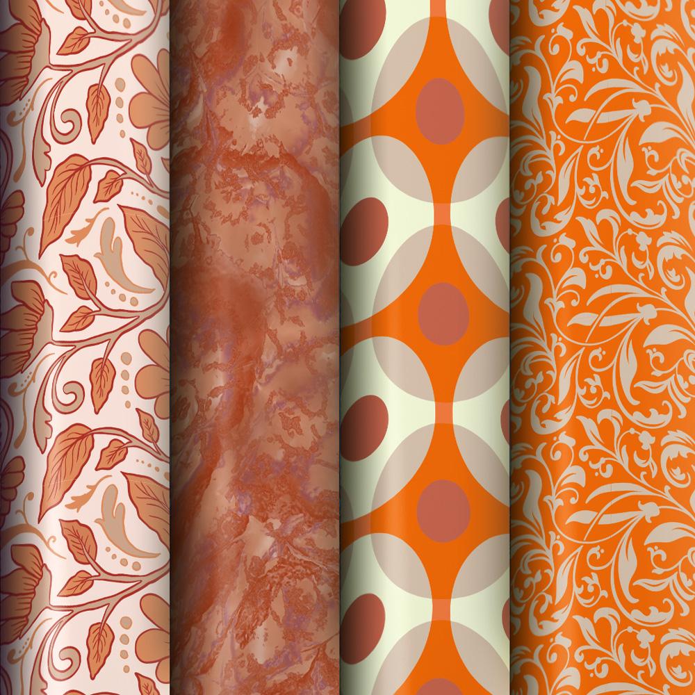 orange Tapeten