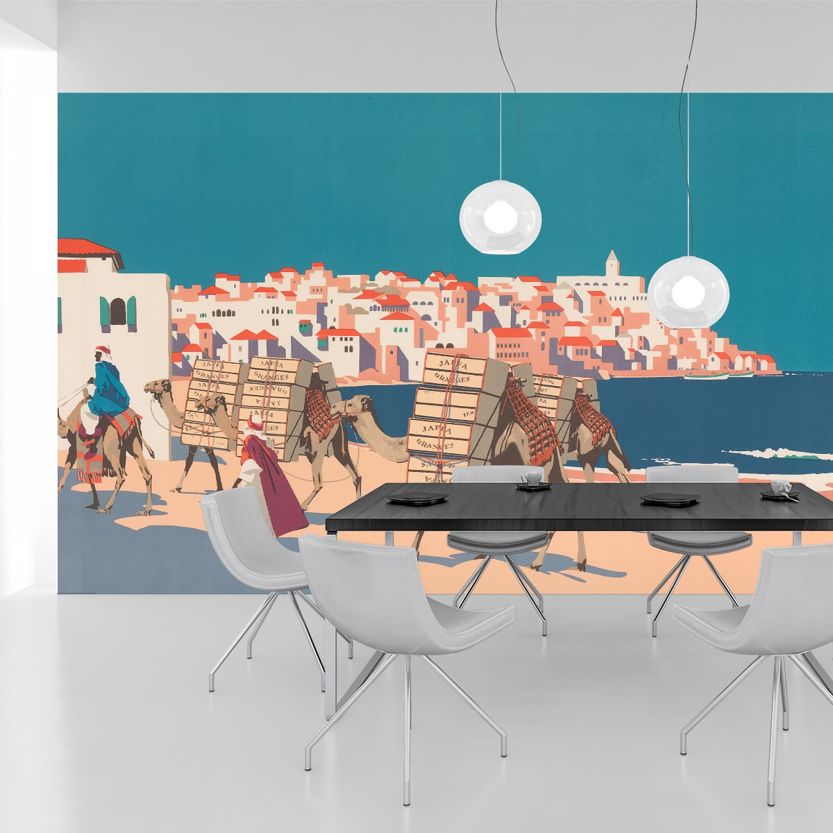 """Kunst Tapete """"Die Orangen von Jaffa"""" nach Frank Newbould"""