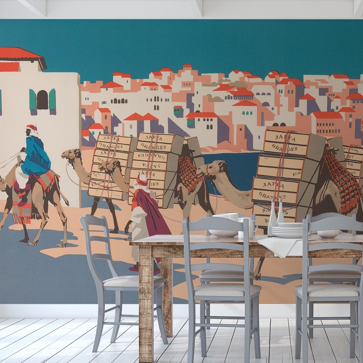 """Tapeten Kunstwerk """"Die Orangen von Jaffa"""" nach Frank Newbould"""