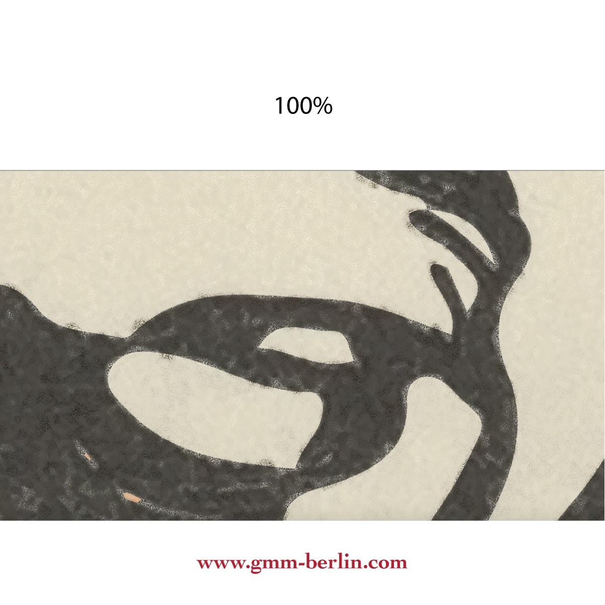 """Dekorative Kunst Tapete """"Der Pitbull"""" nach Moriz Jung aus den Tapeten Neuheiten Exklusive Tapete für schönes Wohnen als Naturaltouch Luxus Vliestapete oder Basic Vliestapete"""