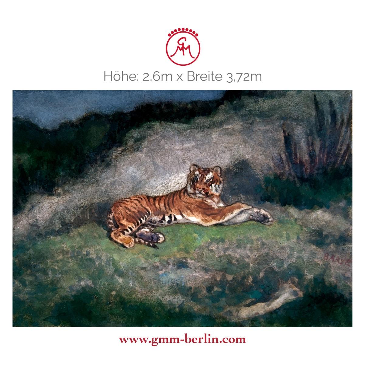 """Exkusives Wandbild: Exotische Künstler Tapete """"der Tiger"""" nach Antoine-Louis Barye"""