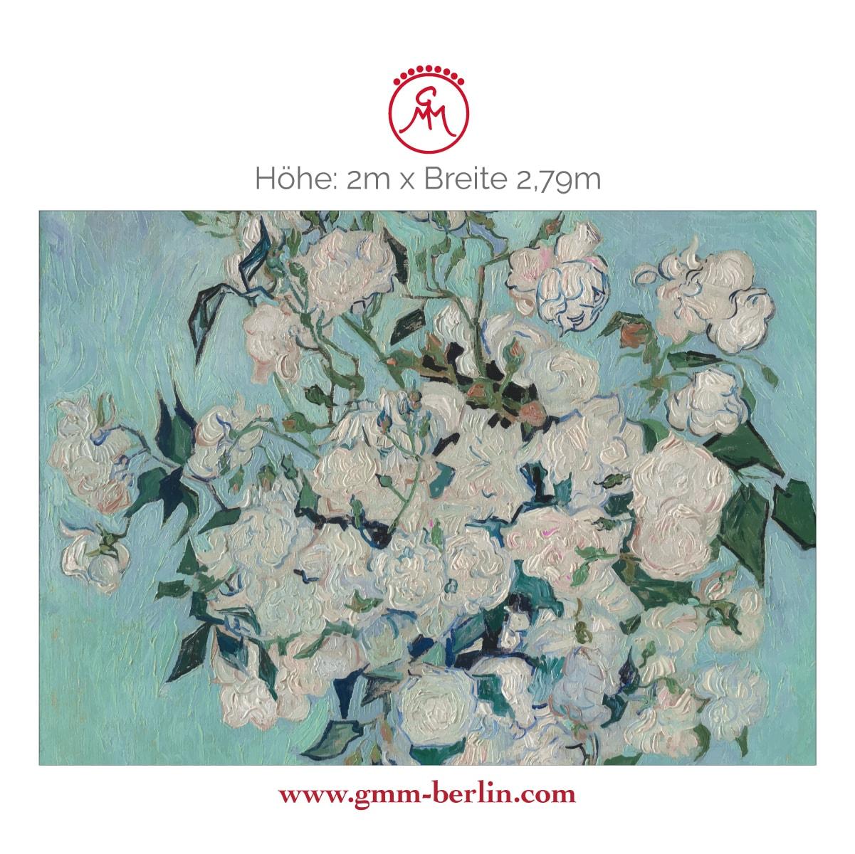 "Dekorative Panorama Tapete: Florale Kunst Tapete ""Die Rosen"" nach Vincent Van Gogh"